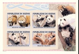 Guinea 2002, Animals, Pandas, 4val - Guinea (1958-...)
