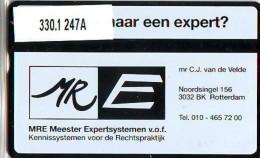 Telefoonkaart  LANDIS&GYR  NEDERLAND * RCZ.330.1  247a * Mr. E. V/d Velde * TK * ONGEBRUIKT * MINT - Nederland