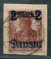 6814 - DANZIG - Mi.Nr. 43 I - Gestempelt Auf Briefstück - Used Stamps