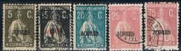 Açores, 1923/4, # 192/5, 197, Used - Azores
