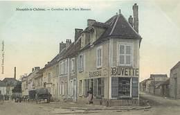 - Yvelines -ref-B636- Neauphle Le Chateau - Carrefour De La Place Moncest - Buvette Riousseau - Cafe - Cafes - - Neauphle Le Chateau