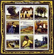 Guinea 2002, Art, Camille Corot, 9val In BF - Guinea (1958-...)
