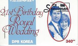 KOREA NORTH (DPR), 1981, Booklet 1a, Diana 21st Birthday / Royal Wedding - Corea Del Nord