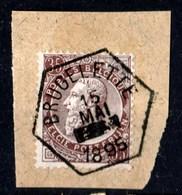 Belgique - Timbre De 1893 COB 77 Sur Fragment Oblitération Hexagonale BRUGELETTE - 1893-1800 Fijne Baard