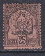 Tunisie  N° 16 O :  25 C. Noir Sur Rose  Oblitération Légère Sinon TB - Tunesië (1888-1955)