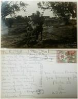 O) 1950 ISRAEL, POSTAL CARD RURAL LANDSCAPE-  MANARA HILLTOP VILLAGE, FRUIT AND STAR OF DAVID.JEWISH NEW YEAR-SCOTT A15 - Israel