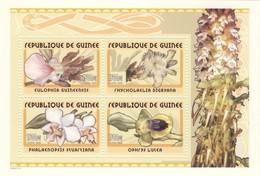 Guinea 2002, Flora, Orchids, 4val In BF - Guinea (1958-...)