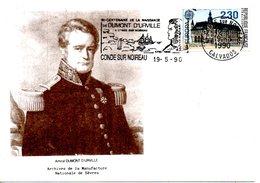 FRANCE. Carte Commémorative De 1990. Bicentenaire De La Naissance De Dumont D'Urville. - Poolreizigers & Beroemdheden