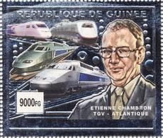 Guinea 2002, Modern Trains, 1val SILVER - Treinen