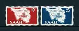 Sarre  Nº Yvert  248/9  En Nuevo - 1947-56 Gealieerde Bezetting