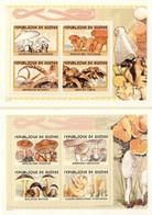 Guinea 2002, Mushrooms, 8val In 2BF - Guinee (1958-...)
