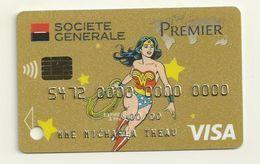 SIMILI CARTE DE DEMONSTRATION  VISA  THEME WONDERWOOMAN - Geldkarten (Ablauf Min. 10 Jahre)