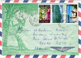 POLYNESIE FRANCAISE Poste 065 97 98 (o) Lettre Illustrée Vahiné Tahiti Joyau Mers Du Sud Tiaré - Briefe U. Dokumente