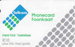 South Africa, Magnetic Field Trial Telkom Phonecard R10 + 50c - Afrique Du Sud