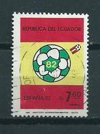 1982 Ecuador World Cup Football Used/gebruikt/oblitere - Ecuador