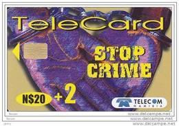 Namibia, Stop Crime, N$ 20 + 2,  Chip - Namibie