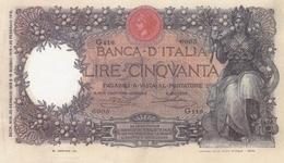BANCA D ITALIA-50 LIRE -UNC-FDS-COPY-RIPRODUZIONE - [ 1] …-1946 : Regno