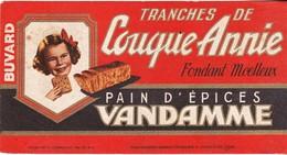 Rare Buvard Tranches De Couque Annie Pain D'épices Vandamme - Pain D'épices