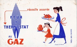 Rare Buvard Four Thermostat Au Gaz - Electricity & Gas