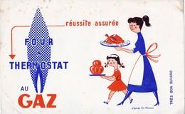Rare Buvard Four Thermostat Au Gaz - Elektrizität & Gas