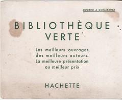 Rare Buvard Livres Bibliothèque Verte - Stationeries (flat Articles)
