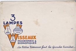 Rare Buvard 3 Lampes Visseaux - Electricity & Gas