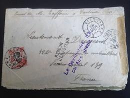 Enveloppe 6/10/1915 Retour A L'envoyeur - Laos-Cochichine-france Pour Lieutenant - Guerre 1914-18