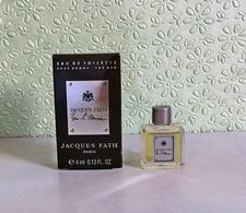 """Miniature """"POUR L'HOMME."""" De JACQUES FATH  Eau De Toilette  4 Ml - Modern Miniaturen (vanaf 1961)"""
