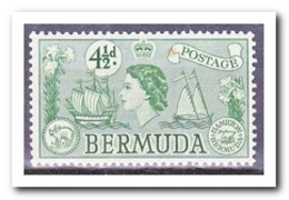 Bermuda 1953, Postfris MNH, Flowers, Queen, Ships - Bermuda