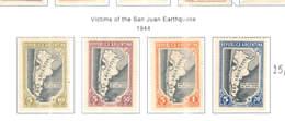 Argentina POSP 1944 Vittime San Juan Earthquake  Scott.B6/9 New See Scan On Scott.Page - Nuovi