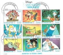 ST. VINCENT  WALT DISNEY RESCUE RANGERS - FOGLIETTO FILATELICO - Disney