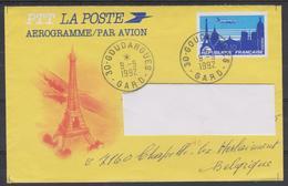Aérogramme + Carteposte Au  Départ De GOUDARGUES Vers La Belgique - Entiers Postaux