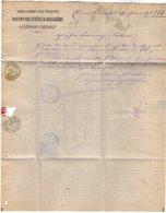 VP11.974 - Lettre - Facture - Habillement Des Troupes DELPON BRUGUIERE & BOISSIERE à CLERMONT L'HERAULT - France