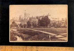 Photographie Cabinet : WINDSOR Castle  C.1880 Real Photograph Chateau De Windsor - Places