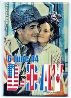 WW2 - Magnet -Soldat Américain Et Petite Normande En Juin 1944 - 1939-45