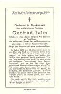 DP. GERTRUD PALM ° 18/11/1857 - + 13/5/1945 (DUITS) - Religion & Esotericism