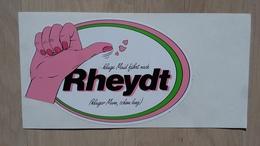 Aufkleber Mit Werbung Für Rheydt (Stadtdteil Von Mönchengladbach) - Aufkleber