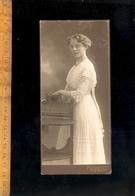 Photographie 1/2 Cabinet : Femme Frau / Photographe Adolph RICHTER LEIPZIG LINDENAU - Photographs