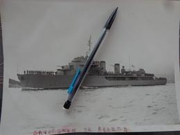 NAVIRE BATEAU MARINE NATIONALE FRANCAISE PHOTO AVISO SAVORGNAN DE BRAZZA VERS 1950 - Schiffe