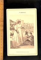 Photographie Cabinet : Peinture Art Tableau De V RENAULT : Ciurse De Taureaux à Arles Salon De 1880 - Photographs
