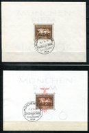 6838 - DEUTSCHES REICH - Block 4 Und 10 Gestempelt; Letzterer Mit Ersttags-Stempel - Deutschland