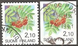 Finlande - 1991 - Sorbier - YT 1092 Et 1095 Oblitérés - Finlande