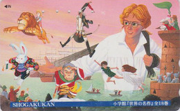 Télécarte Japon / 110-016 - MANGA - SHOGAKUKAN / Singe Lion Lapin - ANIME Japan Phonecard - 10297 - Comics