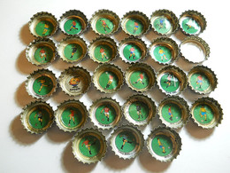 Lot 27 Coca-Cola Caps * Theme Soccer Players - Caps