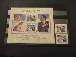 BAHAMAS - 1981 MATRIMONIO 2 VALORI + BF  - NUOVI(++) - Bahamas (1973-...)