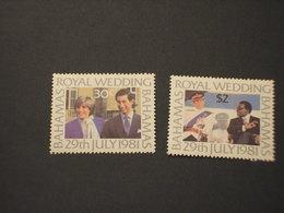 BAHAMAS - 1981 MATRIMONIO 2 VALORI   - NUOVI(++) - Bahamas (1973-...)