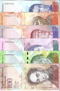 Venezuela  - Pick 88 To 93 - 2, 5, 10, 20, 50, 100 Bolivares 2013 - 2015 - Unc - Set 6 Banknotes - Venezuela