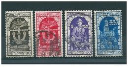 1934 ANNESSIONE FIUME  Serie 4 Valori   USATO - 1900-44 Vittorio Emanuele III