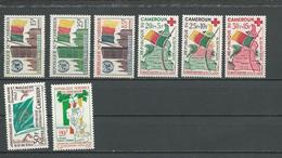 CAMEROUN Scott 340-42, B30-2, 373, 379 Yvert 314-16, 317-319, 354, 360 (8) ** Cote 11,00 $ 1961-2 - Cameroun (1960-...)