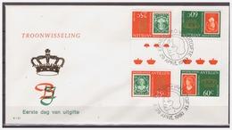 Antillen / Antilles 1980 FDC 131-1 Stamp On Stamp Gutterpair - Curaçao, Antilles Neérlandaises, Aruba